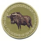 MAASAI MARA GREAT MIGRATION PATCH - EMBROIDERED BADGE