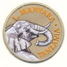 LAKE MANYARA WITH ELEPHANT PATCH  - EMBROIDERED BADGE