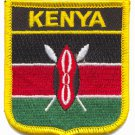 KENYA FLAG PATCH  - SHIELD - EMBROIDERED BADGE