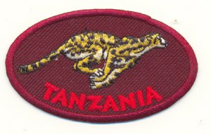 TANZANIA CHEETAH PATCH  - EMBROIDERED BADGE