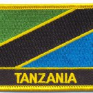 TANZANIA FLAG PATCH  - STILL FLAG - EMBROIDERED BADGE