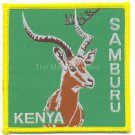 SAMBURU KENYA GAZELLE PATCH  - EMBROIDERED BADGE