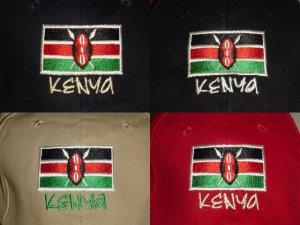 KENYA FLAG BASEBALL CAPS/HATS