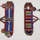 AFRICAN ANTIQUE MAASAI (MASAI) BEAD EARRINGS -KENYA #04