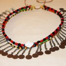 AFRICAN MAASAI (MASAI) BEAD CHOKER NECKLACE - MARA #14