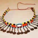 AFRICAN MAASAI (MASAI) BEAD CHOKER NECKLACE - MARA #12