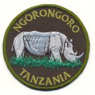 NGORO NGORO TANZANIA RHINO PATCH  - EMBROIDERED BADGE