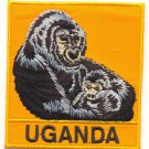 UGANDA GORILLA PATCH  - EMBROIDERED BADGE