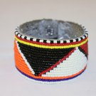 KENYA MAASAI BEADED BRACELET CUFF - MULTI COLOUR