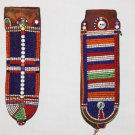 AFRICAN ANTIQUE MAASAI (MASAI) BEAD EARRINGS -KENYA #05