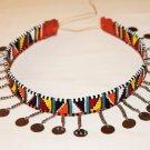 AFRICAN MAASAI (MASAI) BEAD CHOKER NECKLACE - MARA #10