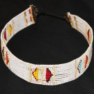 AFRICAN MAASAI (MASAI) BEAD CHOKER NECKLACE - TZ #18