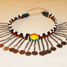AFRICAN MAASAI (MASAI) BEAD CHOKER NECKLACE - MARA #02