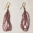 MAASAI (MASAI) BEADED EARRINGS - PINK - MADE IN KENYA