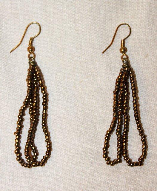 how to make maasai beaded earrings