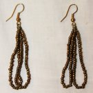 MAASAI (MASAI) BEADED EARRINGS - GOLD - MADE IN KENYA