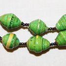 UGANDA PAPER BEADED NECKLACE HANDMADE - MEDIUM BEAD #15