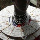 AFRICAN MAASAI (MASAI) BEAD CHOKER NECKLACE - TZ #24