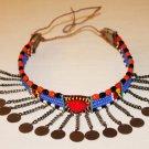 AFRICAN MAASAI (MASAI) BEAD CHOKER NECKLACE - MARA #01