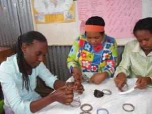 KENYA MAASAI BEADED COIL/SPRING BRACELET - MULTI COLOUR