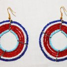 AFRICAN MAASAI (MASAI) EARRINGS - MULTI - MADE IN KENYA
