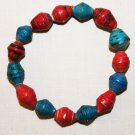 UGANDA PAPER BEADED BRACELET HANDMADE - MEDIUM BEAD #02