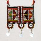 AFRICAN MAASAI (MASAI) BEAD NECKLACE/PENDANT -KENYA #80