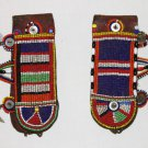 AFRICAN ANTIQUE MAASAI (MASAI) BEAD EARRINGS -KENYA #01
