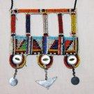 AFRICAN MAASAI (MASAI) BEAD NECKLACE/PENDANT -KENYA #60