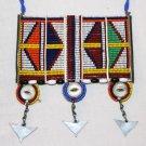 AFRICAN MAASAI (MASAI) BEAD NECKLACE/PENDANT -KENYA #56