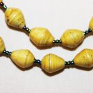 UGANDA PAPER BEADED NECKLACE HANDMADE - MEDIUM BEAD #06