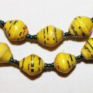 UGANDA PAPER BEADED NECKLACE HANDMADE - MEDIUM BEAD #05