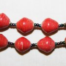 UGANDA PAPER BEADED NECKLACE HANDMADE - MEDIUM BEAD #04