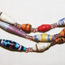 UGANDA PAPER BEADED NECKLACE HANDMADE - MULTI #02