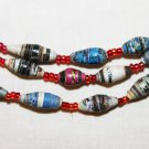 UGANDA PAPER BEADED NECKLACE HANDMADE - MULTI #01