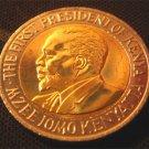 KENYA BIMETAL 5 SHILLING COIN - KENYATTA - 2005 (UNC)
