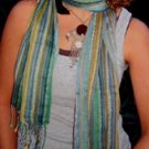 SCARF - SHAWL - HAND LOOMED - INDIA - NARROW - #12