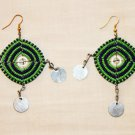 AFRICAN MAASAI (MASAI) EARRINGS - GREEN - MADE IN KENYA