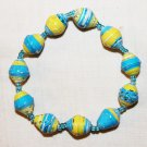 UGANDA PAPER BEADED BRACELET HANDMADE - MEDIUM BEAD #21