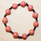 UGANDA PAPER BEADED BRACELET HANDMADE - MEDIUM BEAD #16
