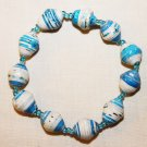 UGANDA PAPER BEADED BRACELET HANDMADE - MEDIUM BEAD #13