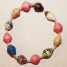 UGANDA PAPER BEADED BRACELET HANDMADE - MEDIUM BEAD #08