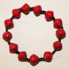 UGANDA PAPER BEADED BRACELET HANDMADE - MEDIUM BEAD #07