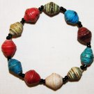 UGANDA PAPER BEADED BRACELET HANDMADE - MEDIUM BEAD #03