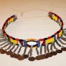 AFRICAN MAASAI (MASAI) BEAD CHOKER NECKLACE - MARA #19