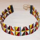AFRICAN MAASAI (MASAI) BEAD CHOKER NECKLACE - MARA #17