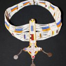 AFRICAN MAASAI (MASAI) BEAD HEAD CROWN TIARA - TZ #04