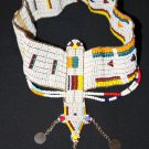 AFRICAN MAASAI (MASAI) BEAD HEAD CROWN TIARA - TZ #08