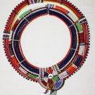 AFRICAN MAASAI (MASAI) COLLAR NECKLACE -KENYA -RARE #28