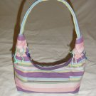 KENYA KIKOY BEACH HAND BAG PURSE - PURPLE STRIPED